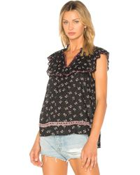 Ella Moss - Embroidered Ruffle Top - Lyst