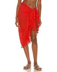 Seafolly Cotton Gauze Sarong - Red