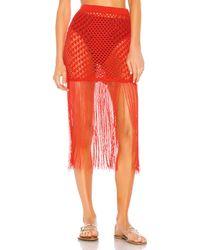 Camila Coelho Ipanema Crochet Skirt - Red