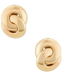Amber Sceats Textured Earring - Metallic