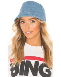 Hat Attack Washed Cotton Bucket Hat - Blau