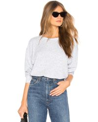 Michael Stars - Long Sleeve Pullover In Baby Blue - Lyst