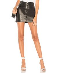 Lamarque - Melora Leather Skirt - Lyst