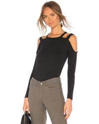 Chaser - Vintage Rib Strappy Open Shoulder Tee - Lyst