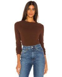Agolde ロングスリーブtシャツ - ブラウン