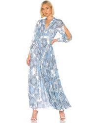 Alice + Olivia Vestido largo cheney - Azul