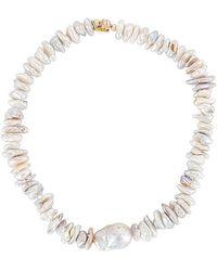 Joolz by Martha Calvo Katharos Pearl Choker Necklace - White