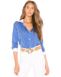 Theory Essential Button Down Top - Blue