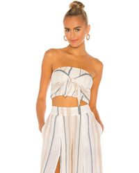 L*Space L* Топ Azalea В Цвете El Camino Stripe - White,tan. Размер M (также В S,xs). - Многоцветный