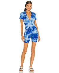 Year Of Ours Polo Romper - Blue
