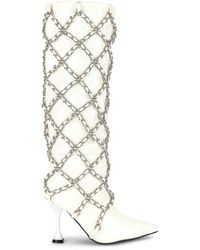 Jeffrey Campbell Armour Boot - White