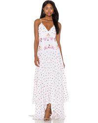 LoveShackFancy Платье Fifer В Цвете Pink Tuscany - Белый
