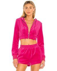 superdown Велюровая Куртка Paris В Цвете Ярко-розовый