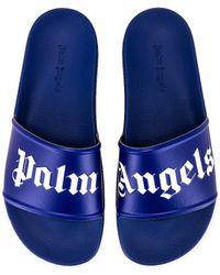 Palm Angels Сандалии В Цвете Фиалка - Синий
