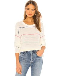 Michael Stars Long Sleeve Striped Scoop Neck Sweater - Mehrfarbig