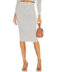 MAJORELLE Elsie Knit Skirt - Grey