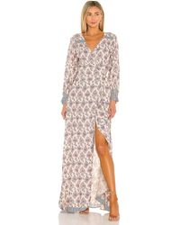 Natalie Martin Макси Платье Kate В Цвете Cyprus Print Lilac - Многоцветный