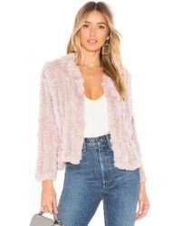 Heartloom - Rosa Fur Jacket In Mauve - Lyst