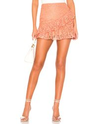 MAJORELLE Odeza Mini Skirt - Orange