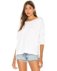 Chaser Snap Side セーター - ホワイト