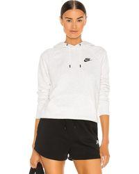 Nike Худи Nsw Essential Hoodie В Цвете Birch Heather - Белый