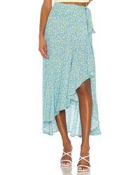 Faithfull The Brand Aubrie Skirt in Blue. Size XS. - Blau