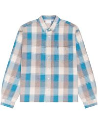 John Elliott Hemi Oversized Shirt - Blau