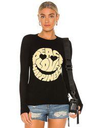 Lauren Moshi Mckinley グラフィックロングスリーブtシャツ - ブラック