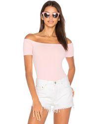 Capulet X Revolve Short Sleeve Shoulderless Bodysuit - Pink
