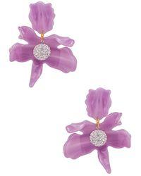 Lele Sadoughi Small Crystal Lily Earring - Lila