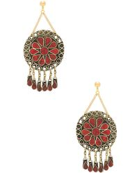 Vanessa Mooney - Marisol Statement Earrings In Metallic Gold. - Lyst