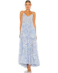 MISA Los Angles Платье Kalita В Цвете Casablanca Blu Shell - Синий