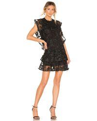 Cynthia Rowley - Lace Mini Dress In Black - Lyst