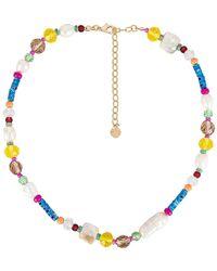 BaubleBar Ожерелье Eloisa В Цвете Мульти - Металлик