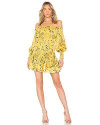 Alexis - Gemina Dress In Yellow - Lyst