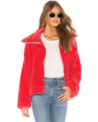 Free People - Dazed High Neck Pullover Jacket In Pink - Lyst