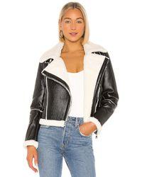 superdown Куртка На Молнии Genna В Цвете Black & White - Black. Размер M (также В S). - Черный