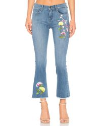ei8ht dreams - Embroidered Crop Flare - Lyst