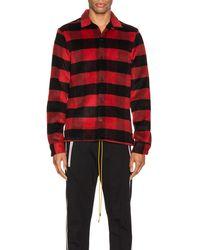 AllSaints Drytown ロングスリーブボタンアップシャツ - レッド