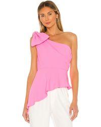 Amanda Uprichard Panama Top In Pink. Size Xs.