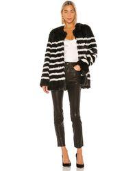 FRAME Oversized Faux-fur Jacket - Black
