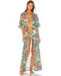 Luli Fama Long open tunic - Multicolor