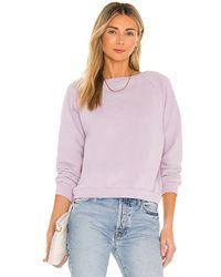 Nili Lotan Classic Crew Neck Sweatshirt - Purple