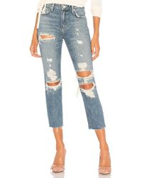 Lovers + Friends Logan High-rise Tapered Jean - Blue