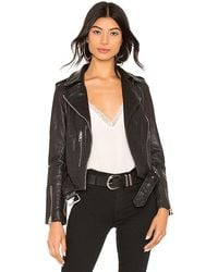 AllSaints Balfern Leather Biker Jacket - Black
