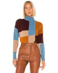 Equipment カラーブロック セーター - ブルー