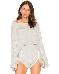 Wildfox - Solid Sweatshirt In Gray - Lyst