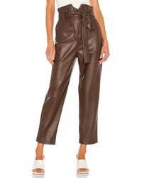 Bardot Debbie Pu Vegan Leather Pant - Brown