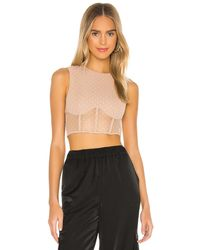 h:ours Irena Crop Top - Natural