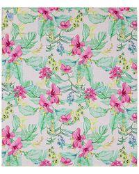 LoveShackFancy Пляжное Полотенце В Цвете Hawaiian Hibiscus & Honeydew Bloom - Зеленый